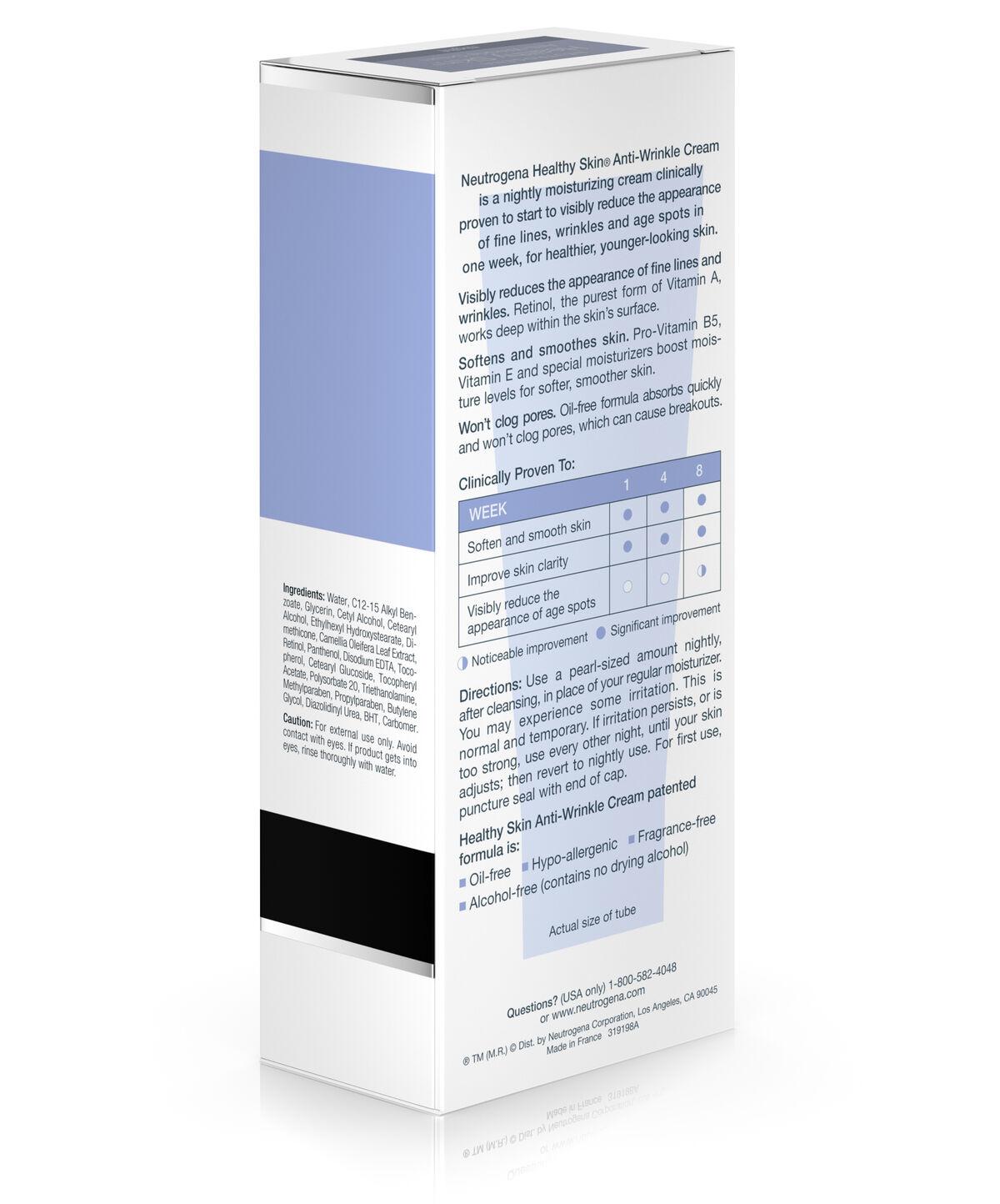 Retinol amounts in moisturizers -  Healthy Skin Anti Wrinkle Night Cream
