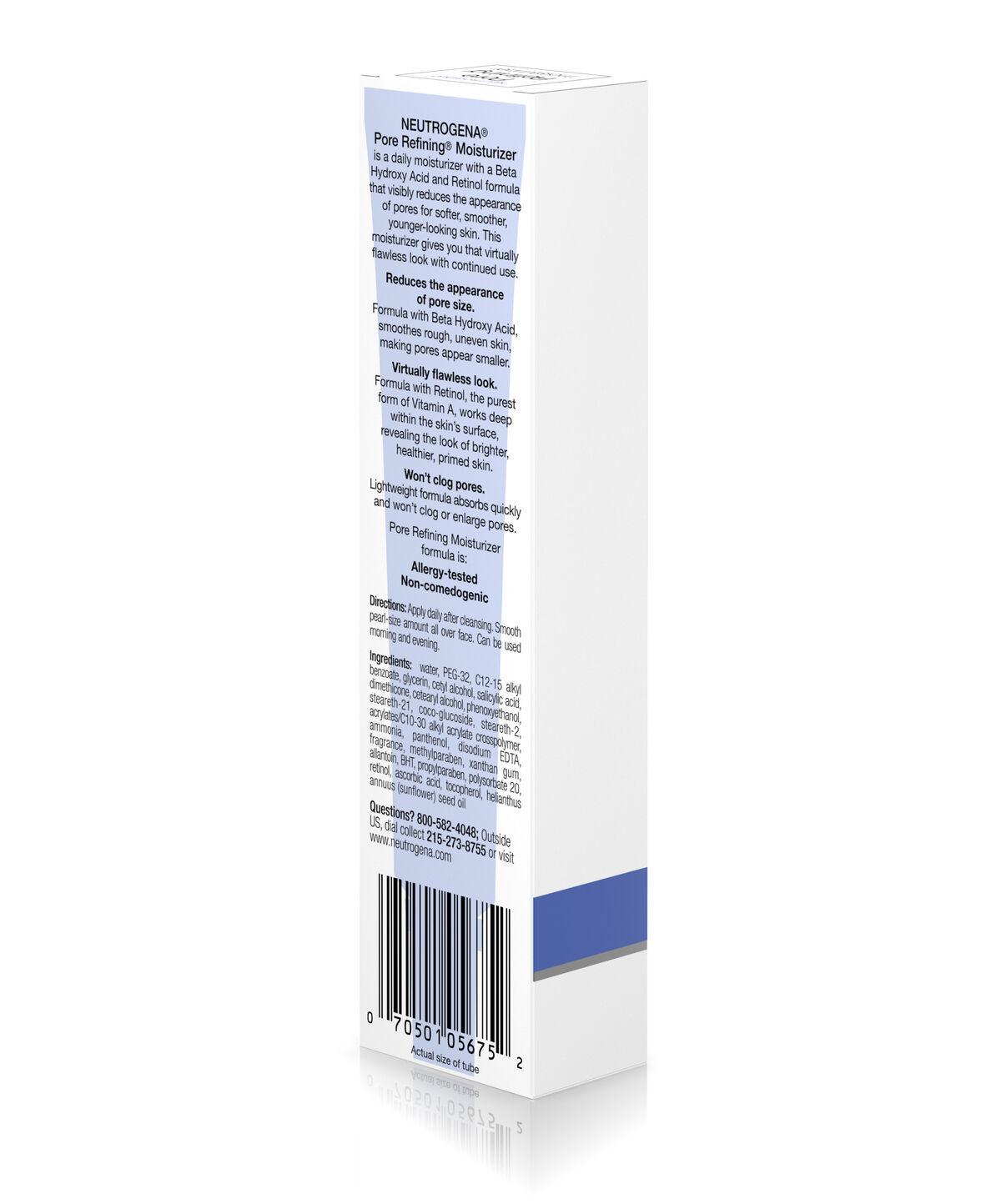 Retinol amounts in moisturizers -  Pore Refining Moisturizer