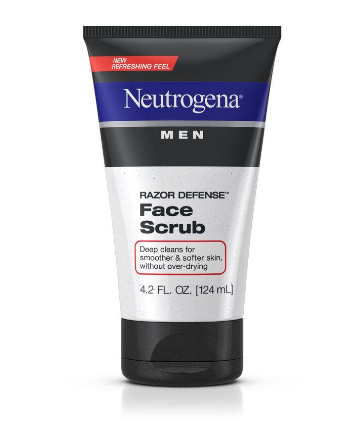 Men Razor Defense Face Scrub Neutrogena 174