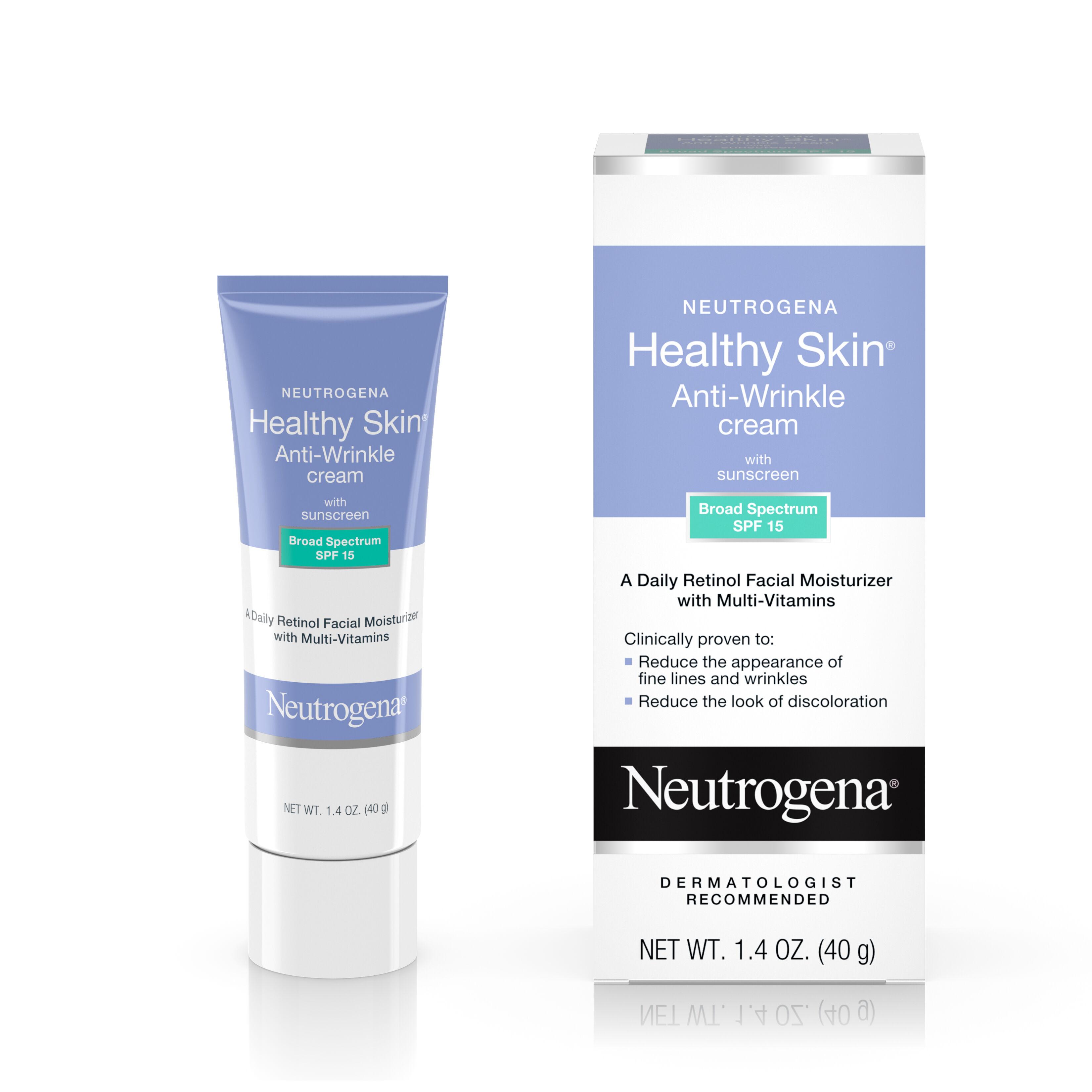 Neutrogena Healthy Skin Anti-Wrinkle With Sunscreen SPF 15 1.40 oz (Pack of 3) G.M. Collin Derm Renewal Cream 10%AHA 1.6 oz
