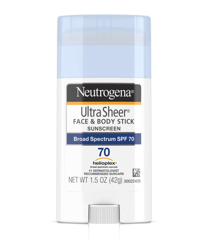 Ultra Sheer® Face & Body Sunscreen Stick SPF 70 | Neutrogena®