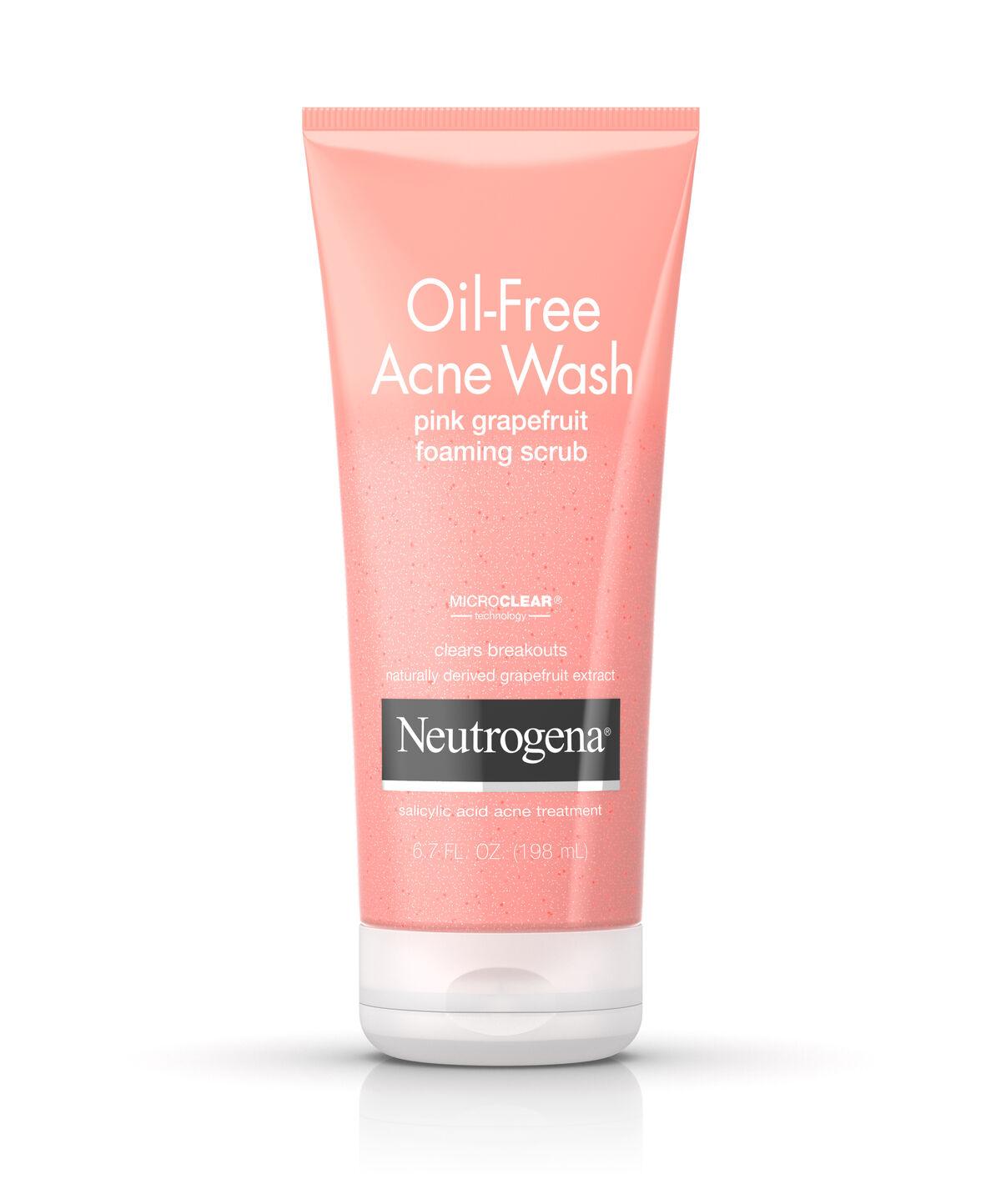 Skin Care Viva Untuk Kulit Berminyak: Oil-Free Acne Wash Pink Grapefruit Foaming Scrub