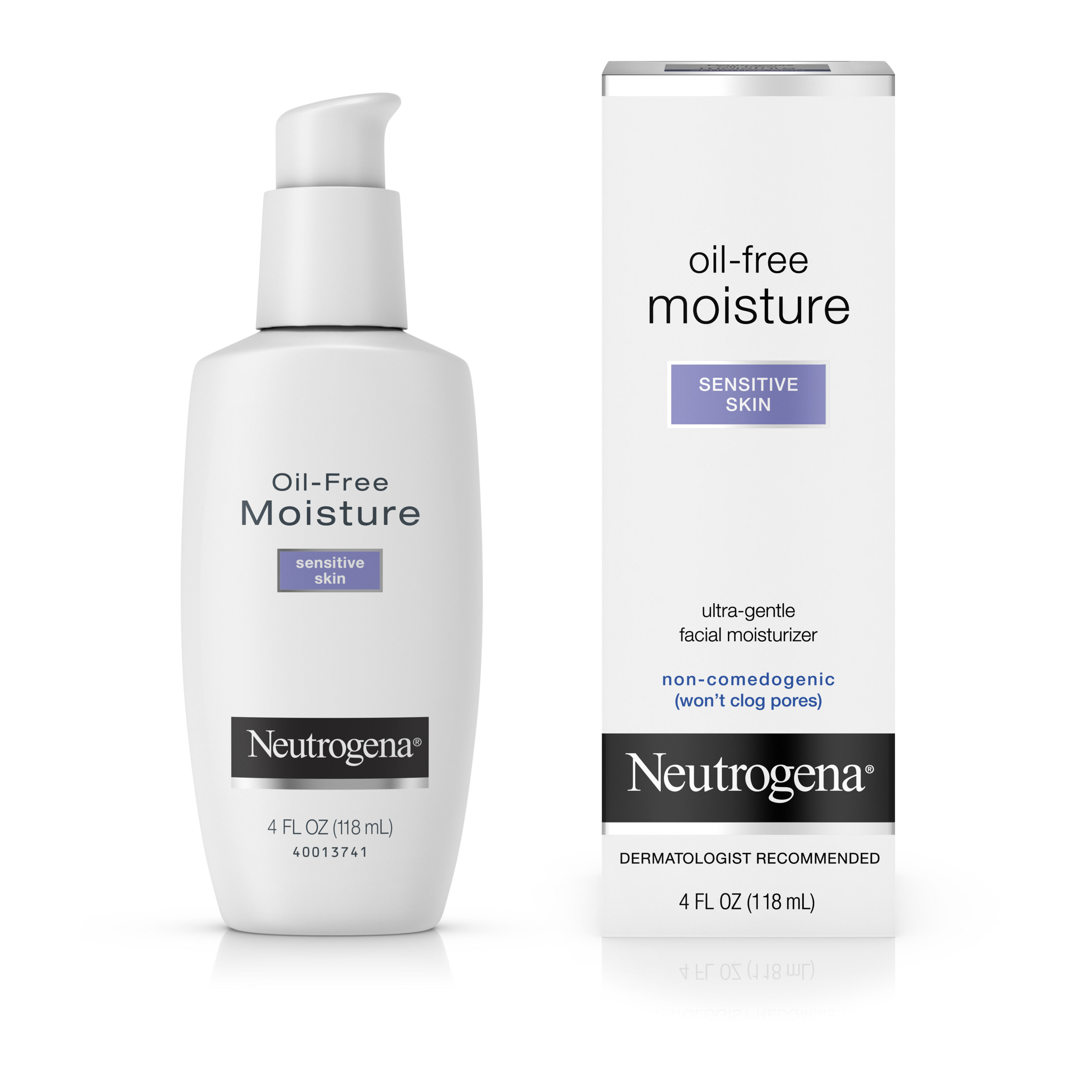 2 Pack - Neutrogena Oil-Free Moisture Facial Moisturizer, Sensitive Skin 4 oz Payot - Creme No 2 Cachemire Anti-Redness Anti-Stress Soothing Rich Care - 50ml/1.6oz