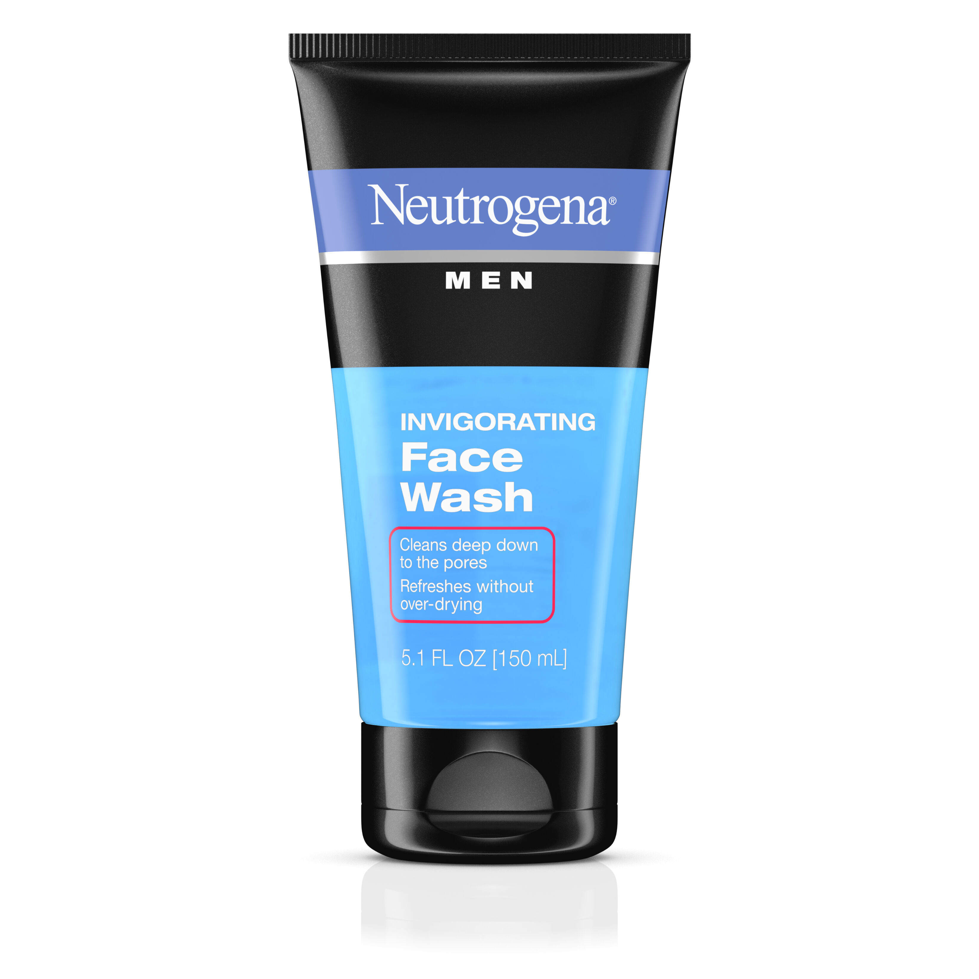Neutrogena Men Invigorating Face Wash 5.1 fl oz(pack of 12) Reviva Glycolic Acid Oily Skin Daytime Light Face Cream Moisturizer - 1.5 Oz, 6 Pack