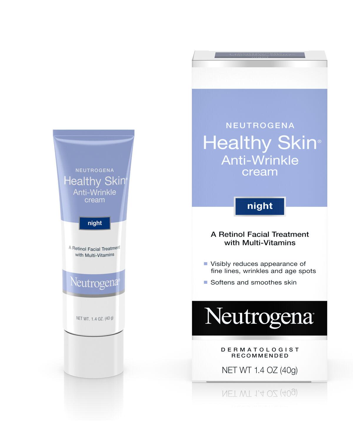 Retinol amounts in moisturizers - Neutrogena Healthy Skin Anti Wrinkle Night Cream