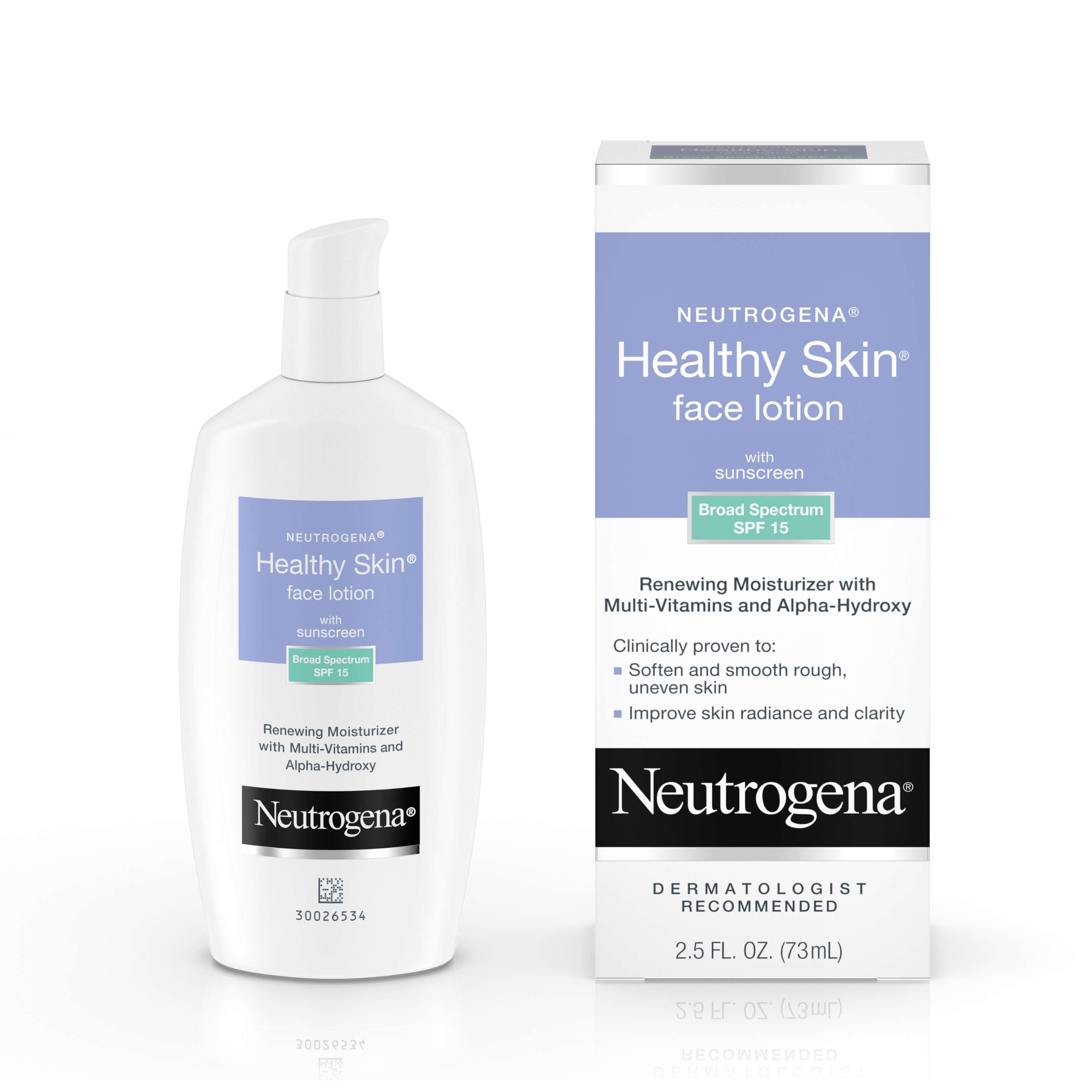 Neutrogena healthy skin face lotion with spf 15 multivitamin facial