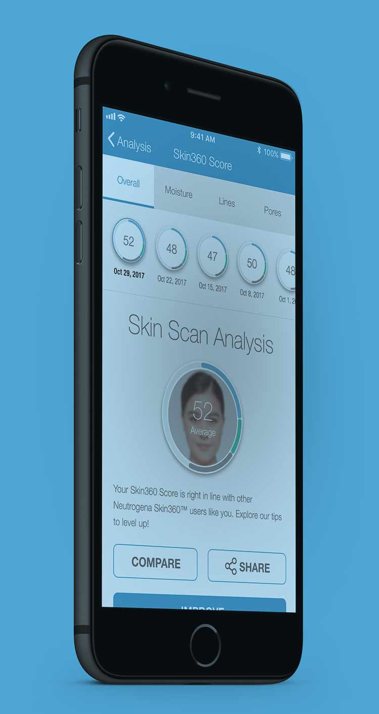 Neutrogena Skin360 App and Skin Scanner Tool
